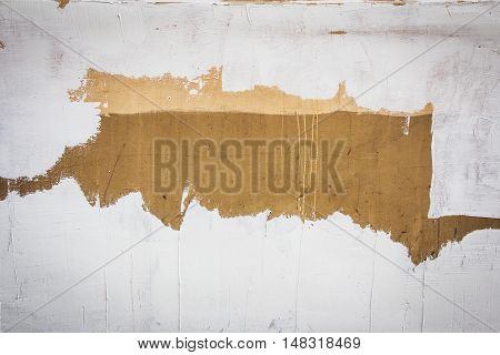 dabbed White Paint makes frame on old painted Wall Background