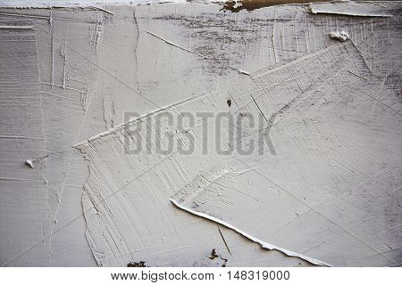 white Structural and textured plaster dabbed on wall