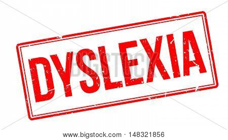 Dyslexia Rubber Stamp