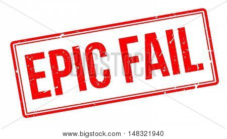 Epic Fail Rubber Stamp