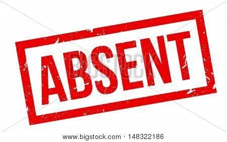 Absent Rubber Stamp