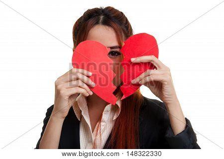 Beautiful Young Asian Woman With Broken Heart.