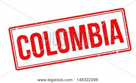 Colombia Rubber Stamp