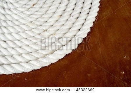Coil Of White Shipping Rope