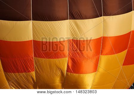 Hot air balloon background of yellow brown orange