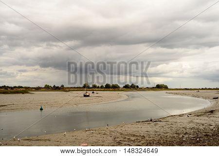 Yachts And Boats On Maldon Estuary