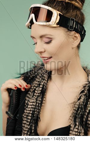 Young Woman With Goggle.