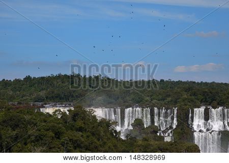 Iguazu waterfall Brazil Argentina Iguassu waterfall scenic