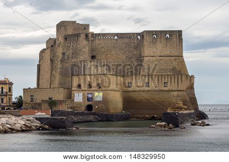 Castel dell'Ovo in historical center of Naples. Italy.