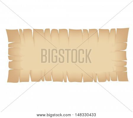 Illustration of Rectangle Beige Torn Banner isolated on a white background