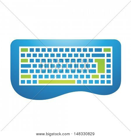 Illustration of PC Accessories Keyboard Icon isolated on a white background