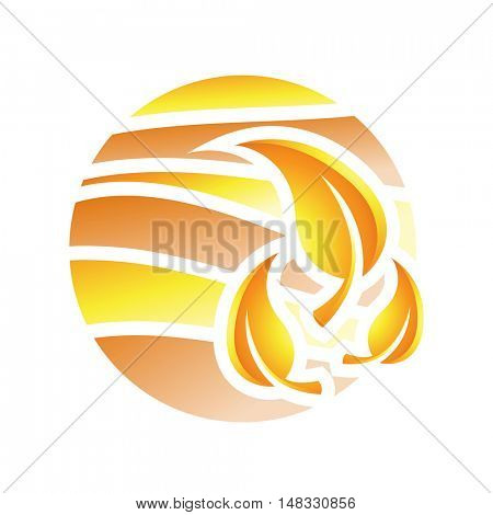 Illustration of Fall Season Icon isolated on a white background