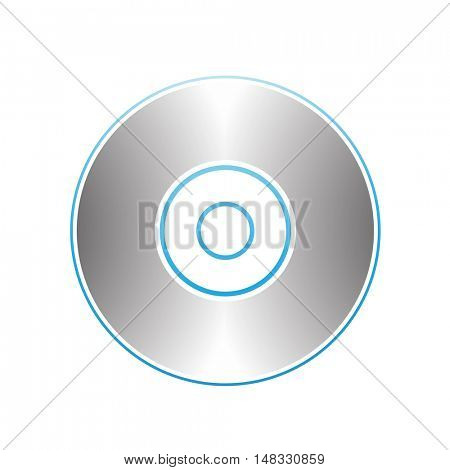 Illustration of PC Accessories Cd Dvd Blu-Ray Disk isolated on a white background