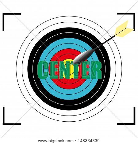 Center word Vector EPS 10, business concept.
