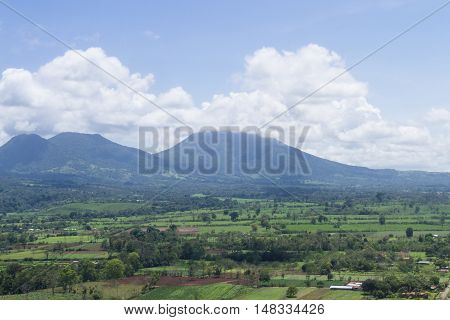 Aerial View Of The Volcan Arenal