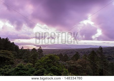 Arenal Lake Reflection The Sun