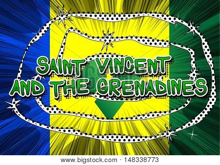 Saint Vincent and the Grenadines - Comic book style text.