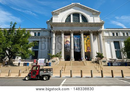 WASHINGTON D.C.,USA - AUGUST 11,2016 : The National Museum of Natural History at the National Mall in Washington D.C.