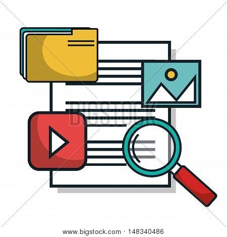 data center documents server isolated vector illustration eps 10