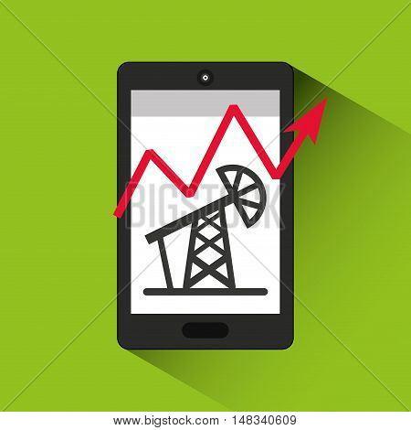 oil prices online industry vector illustration design