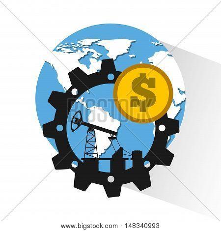 oil prices petroleum industry vector illustration design