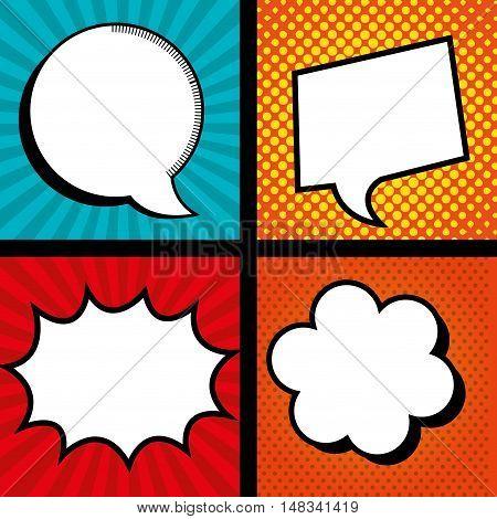 set icon bubble speech color graphic vector illustration eps 10