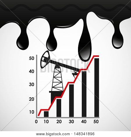 oil prices petroleum industry vector illustration design