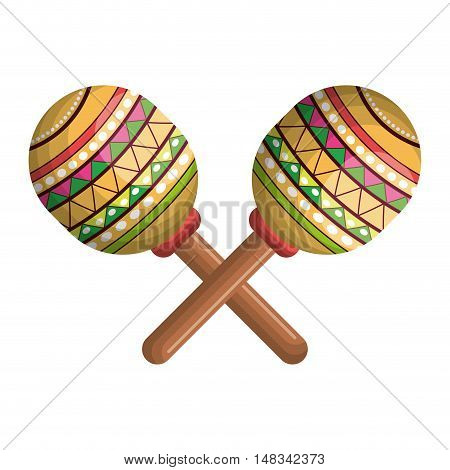 icon maraca mexico music graphic vector illustration eps 10