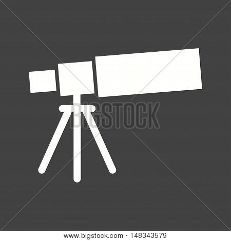 Telescope, web, view icon vector image. Can also be used for web. Suitable for mobile apps, web apps and print media.