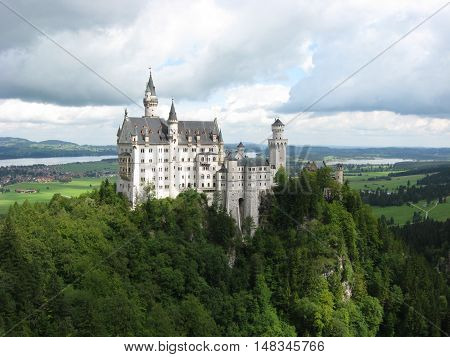 Neuschwanstein Castle, nineteenth-century Romanesque Revival palace, Germany