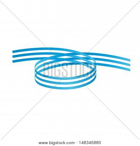 Vector Blue Rings Background isolated in white