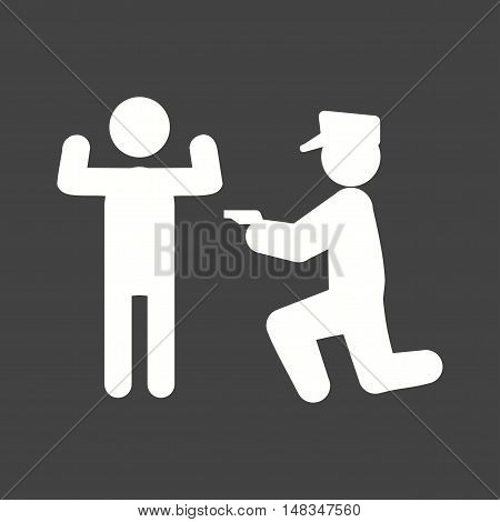Police, arrest, man icon vector image. Can also be used for people. Suitable for use on web apps, mobile apps and print media.