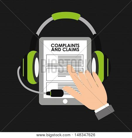 complaints and claims icon vector illustration design