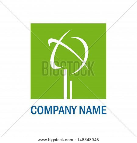 Vector sign green environment isolated in white