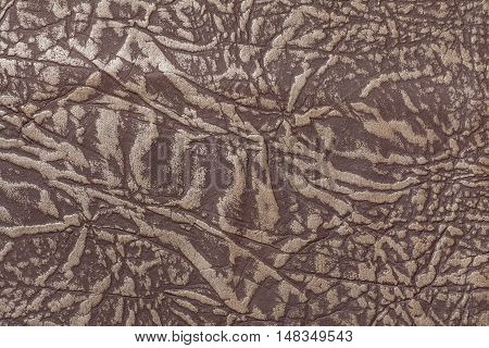 Brown leather background with texture closeup. Macro