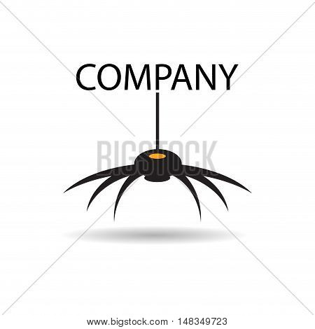 Vector sign black Spider  isolated in white