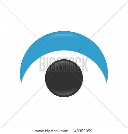 Shiny Eye logo with reflections on a white background