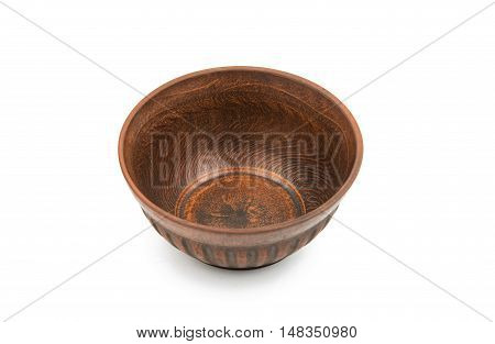 earthenware dish cooking on a white background