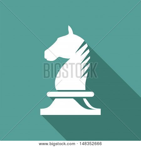 Vector sign horse of chess  isolated in green