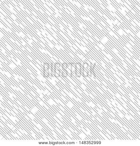 Seamless Diagonal Line Pattern. Vector Black and White Chaotic Texture