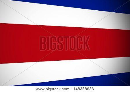 Costa Rica flag ,Original and simple Coata Rica flag