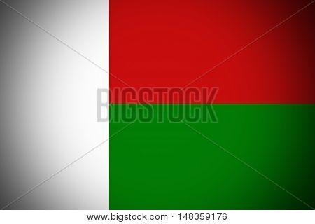 Madagascar flag ,original and simple Madagascar flag