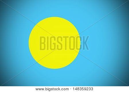 Palau flag ,original and simple palau flag