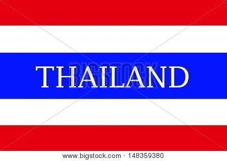 Thailand flag ,Original and simple Republic of The thailand flag