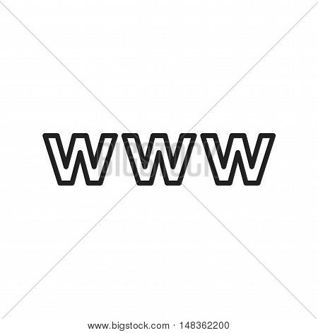 Web, website, www icon vector image. Can also be used for social media logos. Suitable for mobile apps, web apps and print media.