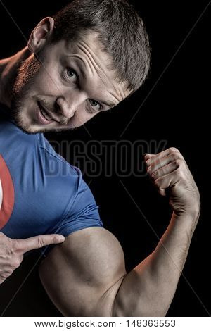 Man Showing Biceps
