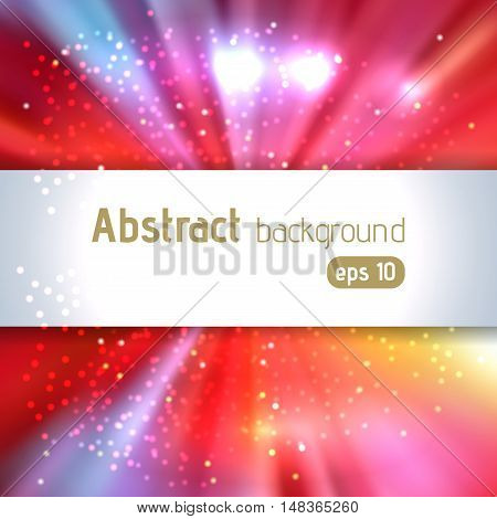 Beautiful Rays Of Light. Shiny Eps 10 Background. Colorful Radial Radiant Effect. Vector Illustratio