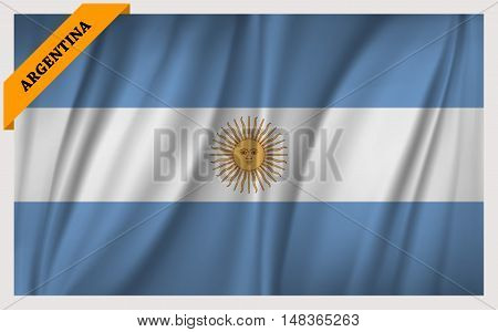 National flag of Argentina - waving edition