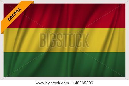 National flag of Bolivia - waving edition