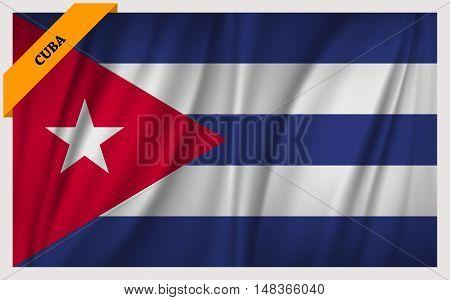 National flag of Cuba - waving edition